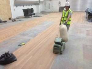 Sanding at the National Theatre