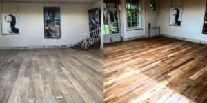 Before and After Floor Sanding Essex