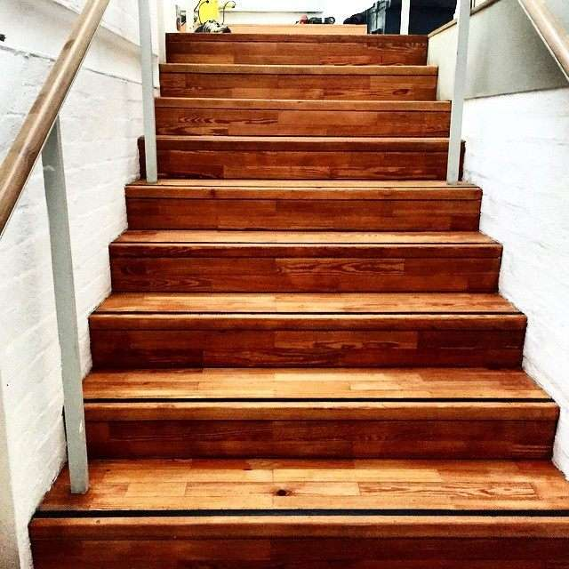 Sanding Stairs with Matte Finish